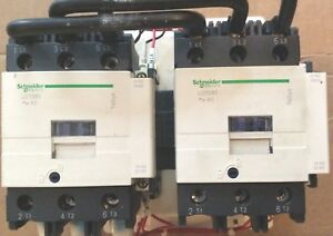 Schneider Electric Reversing Contactor Lc2d80 Coils Are 100 Volts