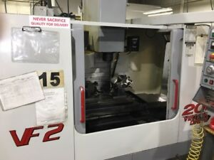 Used 2001 Haas Vf 2 Cnc Vertical Machining Center Mill 4th And 5th Ready Vmc Ct