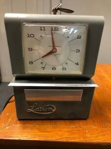 Vintage Lathem 4000 Series Time Clock