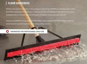 New Harper 5324224p1 24 Powrwave Unassembled Rubber Floor Squeegee In A Box