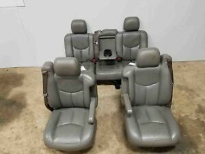 2003 2006 Chevrolet Tahoe Front 2nd Row Seats Leather Electric Opt An3 Oem