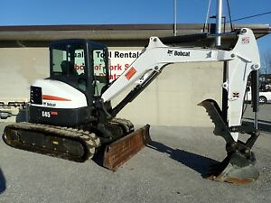2016 Bobcat E45 Mini Excavator 575 Hours Erops Heat ac 2 Speed Hyd Thumb