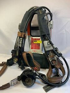 Used Scott 2 2 Air Pack Scba Harness Ez Flo Regulator Vibralert Pass 2002 Model