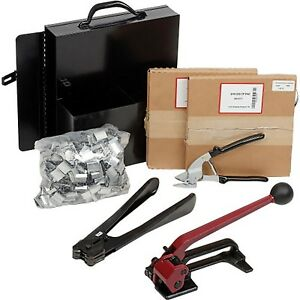 Steel Strapping Kit With Two 1 2 X 200 Coils Tensioner Sealer Cutter And