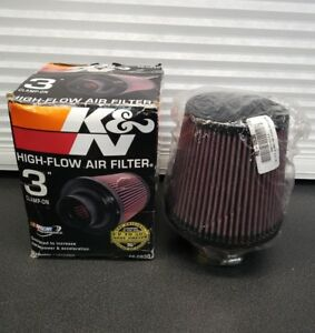 K n Universal 3 Clamp on Air Intake Cone Filter 76mm Re 0930 Car Truck Suv