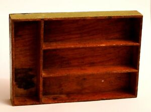 Vintage Primitive Slotted Wooden Crate Great For Wall Shelf Or Organization