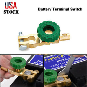 2x Car Side Post Battery Terminal Link Disconnect Kill Shut Quick Cut Off Switch