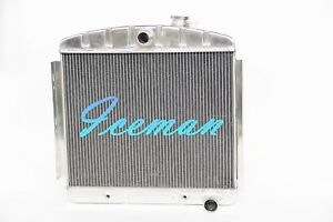 Polished Kks 3 Rows 1955 1956 Chevy Belair Bel Air 6cyl Core Aluminum Radiator