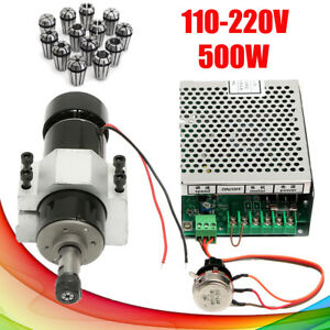 110v 220v 500w Governor Spindle Motor Air Cooling 52mm Clamps 13x Er11 Collet