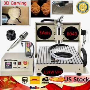 Three 3 Axis 6040 1 5kw Cnc Router Engraver Engraving Milling Machine
