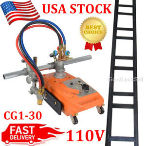 New Torch Track Burner Cg1 30 Gas Cutting Machine Cutter W Rails Usa Fast Ship