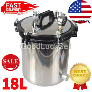 High Pressure 18l Steam Sterilizer Medical Dental Tattoo Autoclave Sterilization