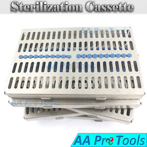 5 Sterilization Cassette Rack Tray Hold 20 Dental Surgical Instrument Autoclave