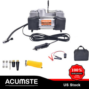 Heavy Duty 150psi Double Cylinder Air Pump Compressor Car Tire Tyre Inflator New