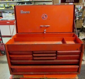 1962 Vintage Snap On Tool Box Chest With Key Please Look At Pics And Read Desc