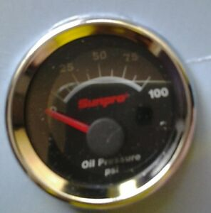 Sunpro Cp7101 Oil Pressure Gauge 2 Black Face Chrome Bezel Electrical