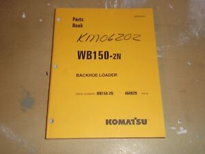 Komatsu Wb150 2n Backhoe Loader Parts Catalog Manual