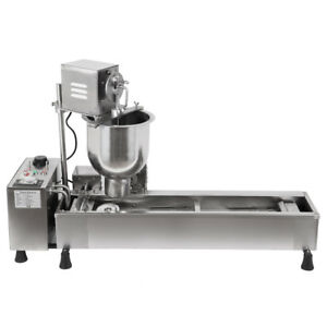 3kw Commercial Automatic Donut Fryer Maker Machine Wide Oil Tank W 3 Sets Mold