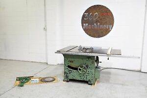 Tannewitz Xj 18 Table Saw W 52 Fence