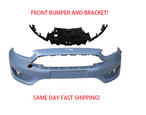 2015 2016 2017 2018 Ford Focus Front Bumper With Bumper Bracket Support New