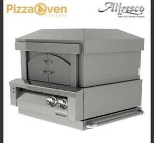 Alfresco Natural Gas 30 Inch Built In Pizza Oven Outdoor Alf pza Bi New