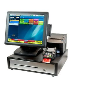New All in one Touch Screen Restaurant Pos System W Software Merchant Account