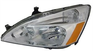 Fits For Honda Accord 2003 2004 2005 2006 2007 Headlight Left Driver