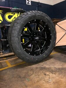 22x10 Moto Metal Mo962 Black Wheel And Tire Package 35 Fuel At 6x135 Ford F150