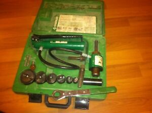 Greenlee 7306sb Hydraulic Knock Out Punch Kit Slug Buster 7646 Driver