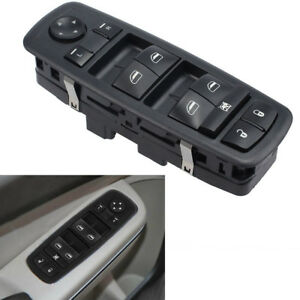 Driver Side Master Power Window Switch For Dodge Grand Caravan 2008 2010 Black