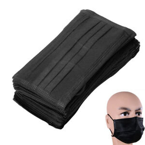 100 200x Pm2 5 Disposable Medical Dust Mouth Surgical Face Mask Respirator Black