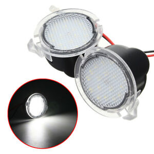 A Pair Led Side Mirror Puddle Light For Ford F 150 2009 2010 2011 2012 2013 2014
