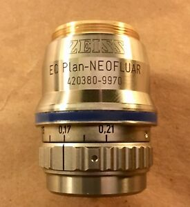 Zeiss 63x 0 95na Air Correction Collar Ec Plan Neofluar Korr