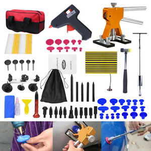Car Paintless Dent Repair Hail Removal Tool Puller Lifter Glue Gun Stick Tab Kit
