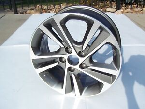 2016 18 Hyundai Elantra Sonata Wheel Oem Stock Rim 7x17 Gray 5 Split Spoke