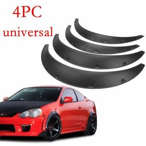 4pcs Universal Fender Flares 50mm75mm Wide Body Kit Wheel Arches Durable Pu Fits 2010 Toyota Corolla