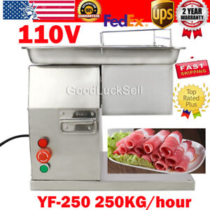 110v Meat Cutting Machine Meat Cutter Slicer 250kg Output With 5mm Blade In Usa