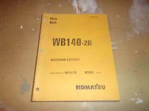Komatsu Wb140 2n Backhoe Loader Parts Manual Catalog