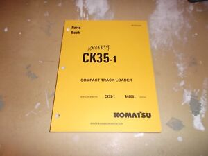 Komatsu Ck35 1 Compact Track Loader Skid Steer Parts Book Catalog Manual