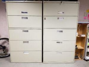 Hon 685ll 600 Series Five drawer Lateral File Used Very Good Condition