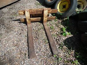 Hydra mac 6c Skid Steer Loader Pallet Forks International Ih 4120 Hydramac