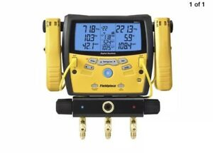 Fieldpiece Sman340 Three port Digital Manifold With Clamps And Gauges