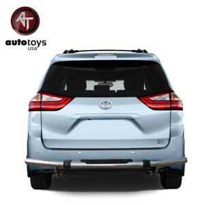 Atu Fits 04 20 Sienna Stainless Rear Bumper Guard Protector Single Tube W Pad