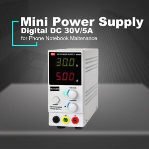 30v 5a Digital Mini Dc Power Supply Current Volt Display Adjustable Switching Ns