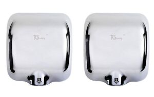 2x Commercial Automatic Electric Hand Dryer Air Blower Bathroom Stainless Steel