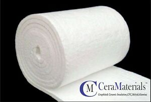 Ceramic Fiber Blanket 2300f 8lb Thermal High Temp Insulation 1 x24 x5 Kaowool