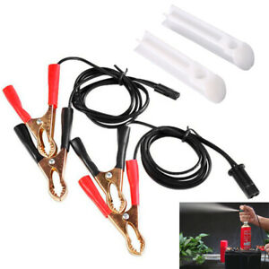Universal Car Fuel Injector Flush Cleaner Adapter Kit Cleaning Tool W 2 Nozzles