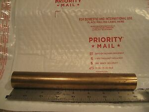 Solid Beryllium Copper Round Bar Endcut Becu2 1 125 Diameter X Approx 8 Long