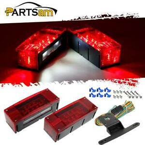 Lifet Right Red Truck Trailer Boat Stud Stop Turn Tail Lights Led Package Kit
