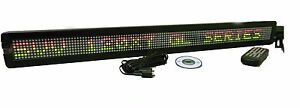 Tricolor Led Programmable Display Indoor Sign Wireless Remote 38 x4 New